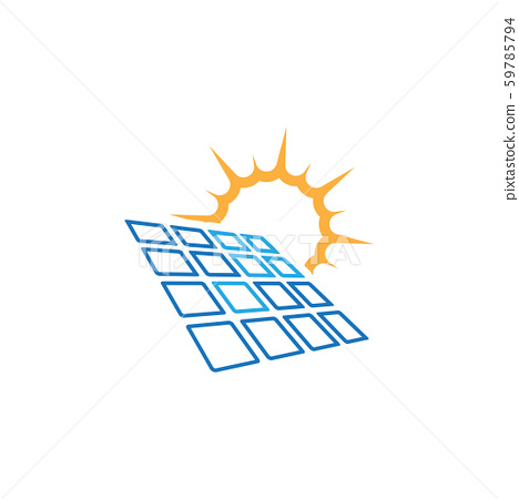 Solar panel icon design template vector isolated 59785794