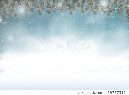 Night winter background with snowstorm. 59787513
