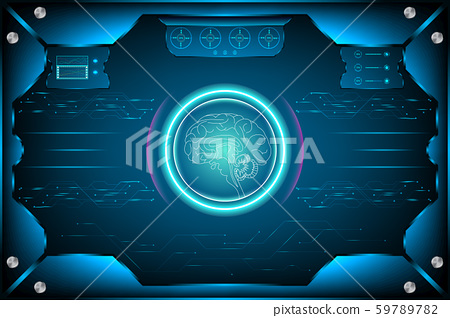 Futuristic Interface artificial intelligence. 59789782