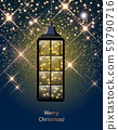 Christmas lantern with LED string with stardust on 59790716