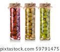 olives bottle on a white 59791475