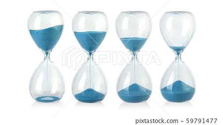 Hourglass isolated on white 59791477