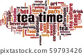 Tea time word cloud 59793426