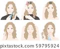 做護髮的婦女的例證 59795924