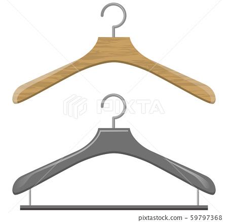 Image illustration of hanger (wooden / plastic) 59797368