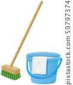 甲板刷和水桶图像图 59797374