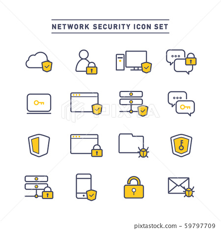 NETWORK SECURITY ICON SET 59797709
