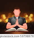 priest praying with book 59798678