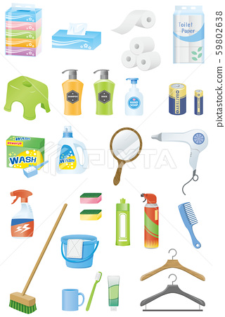 Daily necessities image illustration 59802638