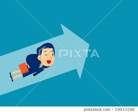 Flying to upward. Concept business direction 59813298