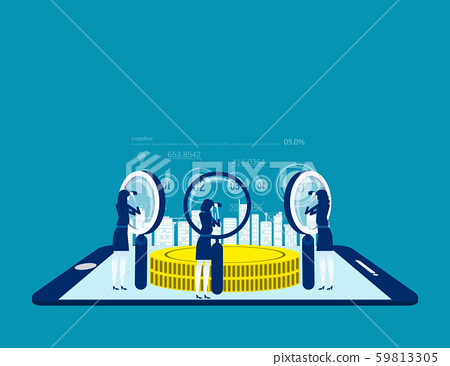 People searching for investment. Concept business 59813305