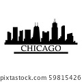 chicago skyline 59815426