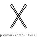 drum stick icon 59815433