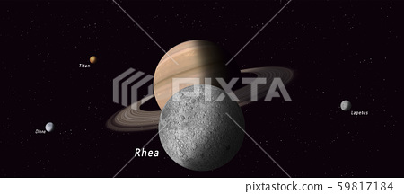 rhea saturn satellite 59817184