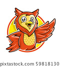 Owl mascot character, vector of owl cartoon 59818130