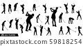 Vector set of golf players silhouettes 59818254
