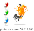 vector illustration of soccer or football player 59818261