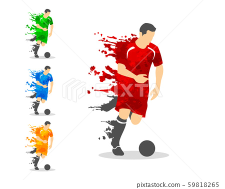 vector illustration of soccer or football player 59818265