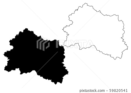 Oryol Oblast map vector.... 59820541