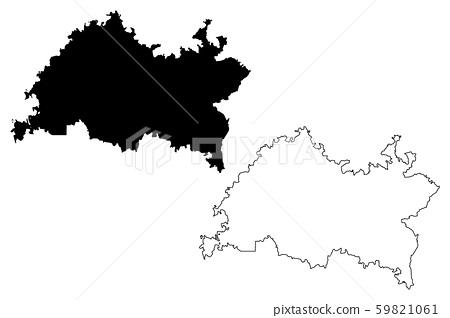 Tatarstan map vector.... 59821061