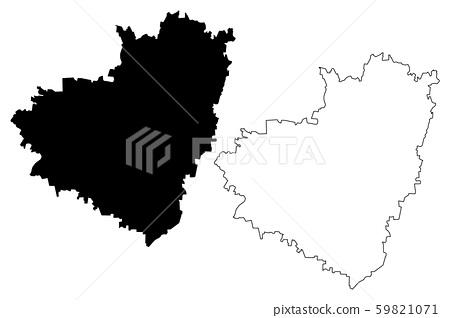 Samara Oblast map vector.... 59821071