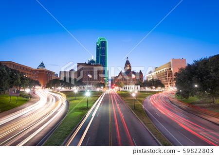 Dallas, Texas, USA skyline over Dealey Plaza 59822803