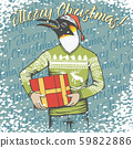 Christmas penguin vector illustration 59822886