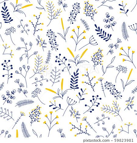 seamless pattern with beautiful flowers 59823981