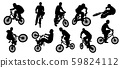 BMX Silhouette or bicycle silhouette 59824112