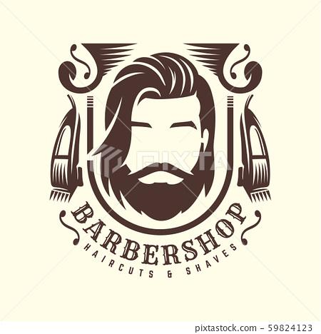 Vintage Barbershop logo template, retro style, 59824123