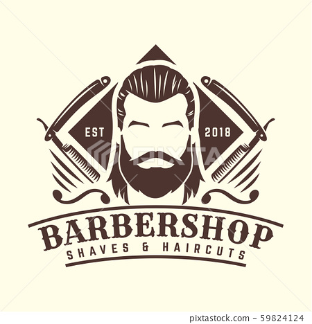 Vintage Barbershop logo template, retro style, 59824124