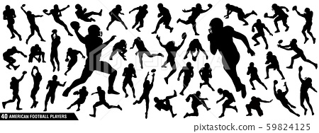 American Football Players Silhouettes 59824125