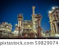 Factory night view Kawasaki Chidori-cho cargo yard 59829074