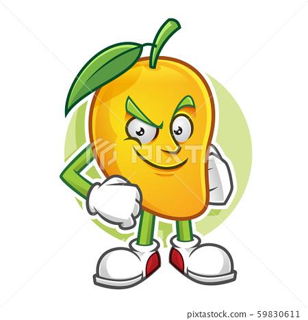 Confidence mango character 59830611