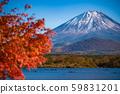 [Autumn] Mount Fuji seen from Lake Shoji 59831201