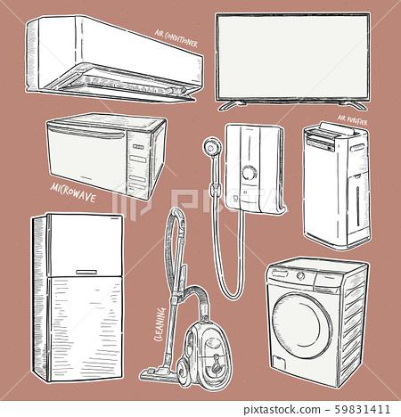 Home appliances. Set of household kitchen 59831411