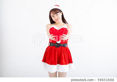 여성 크리스마스 산타 59831688