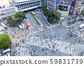 Shibuya scramble crossing seen from above 59831739
