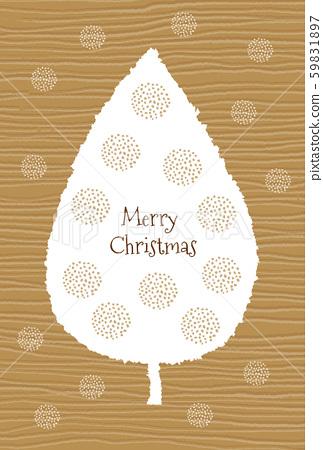 세련된 북유럽 풍의 도트 무늬 트리 크리스마스 카드 59831897