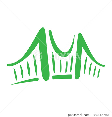Vector of Simple flat minimalist bridge logo or 59832768