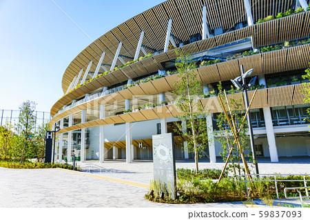 新國家體育場國家體育場景觀日本東京奧林匹克體育場陽光明媚的藍天竣工 59837093