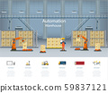 Automation warehouse infographic 59837121