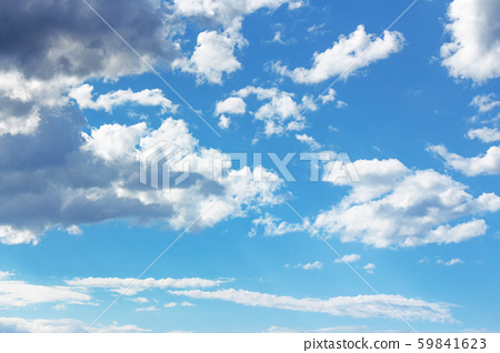 blue sky with clouds on a sunny april day 59841623