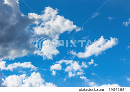 blue sky with clouds on a sunny april day 59841624