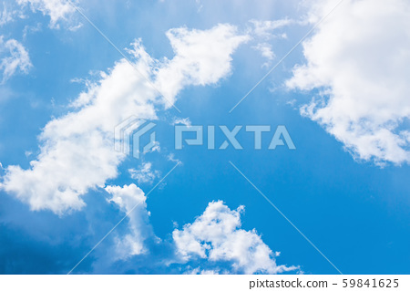 azure sky with puffy clouds 59841625