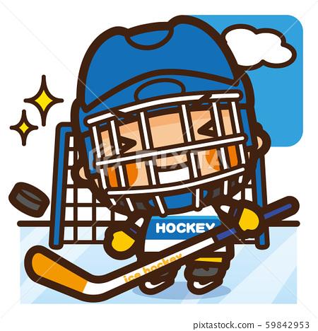 學校的孩子們冰上曲棍球男孩冬季運動 59842953