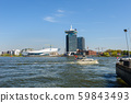 View to Adam lookout and The Eye, the film museum in Amsterdam 59843493