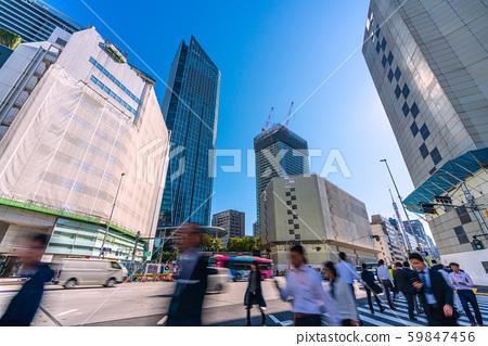 Views of Japan's Tokyo cityscape, Toranomon Hills, Toranomon 2-chome, Tokyo Tower, etc. 59847456