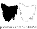 Tasmania map vector 59848450