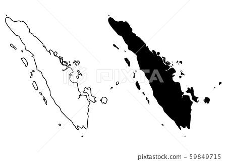Sumatra map vector 59849715